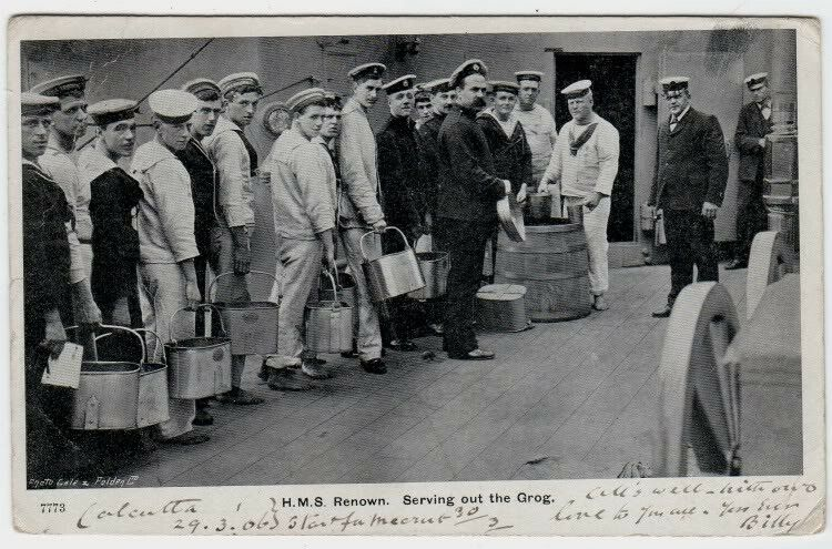 HMS Renown, Serving out the Grog (1903)