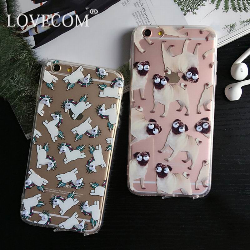 Hot 3D Eye Horse Dogs Phone Capa Para Fundas Cover Case For Apple iPhone 5 5S 5SE 6 6S Plus Soft TPU Sleeve Shell