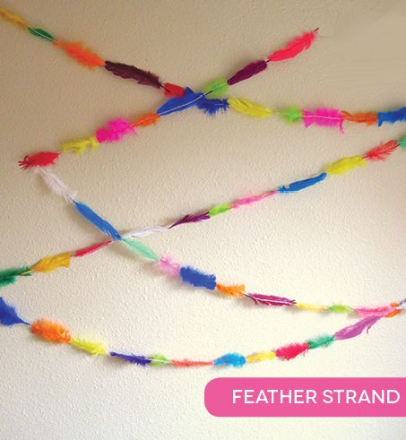make your own strand of feathers