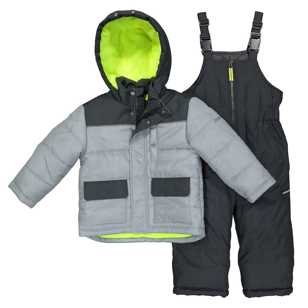 b7a42eecb Toddler Boy OshKosh B gosh® Quilted Colorblocked Jacket   Bib ...