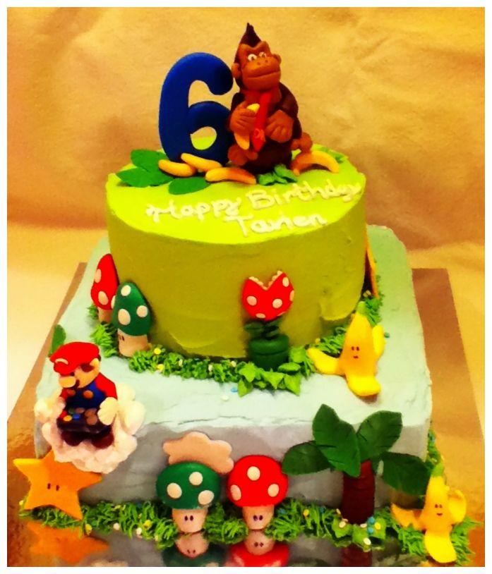 Groovy Mario Donkey Kong Birthday Cake Boy Birthday Cake Nintendo Funny Birthday Cards Online Amentibdeldamsfinfo