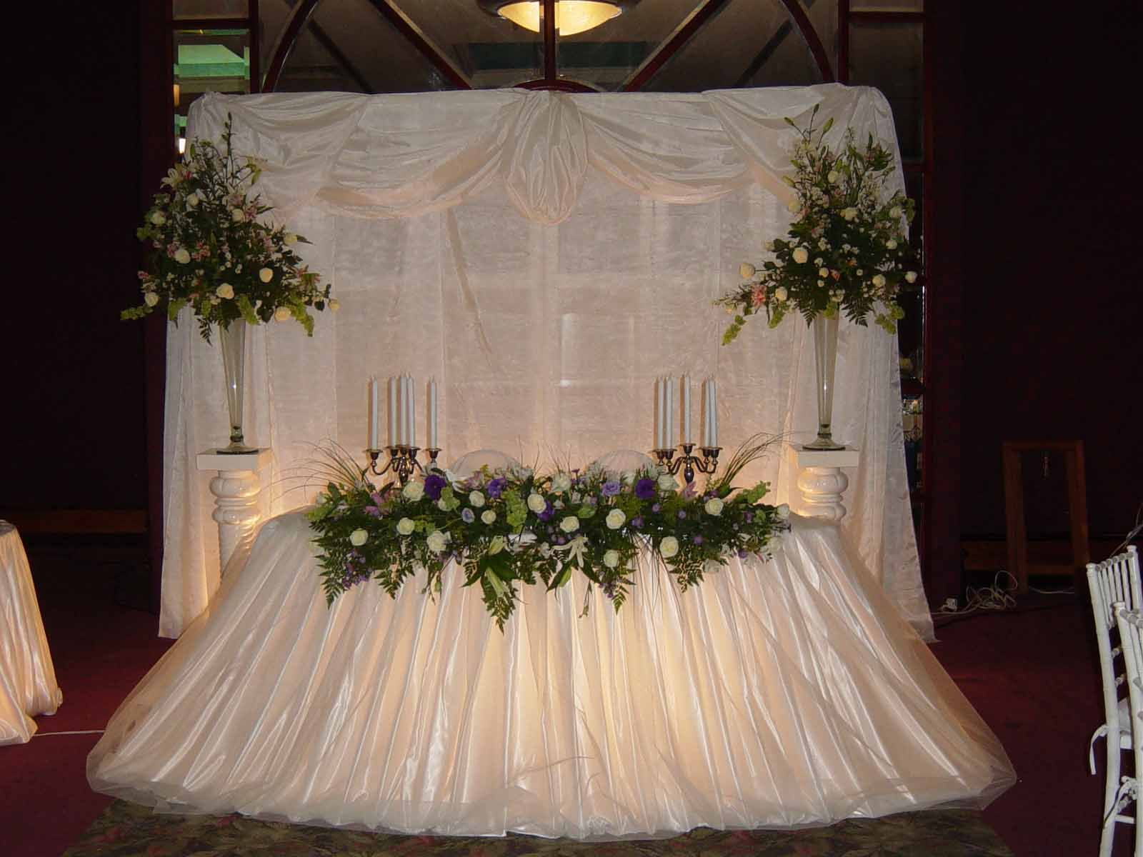 Adornos De Mesa Para Bodas  Mesas de Honor  Mi boda