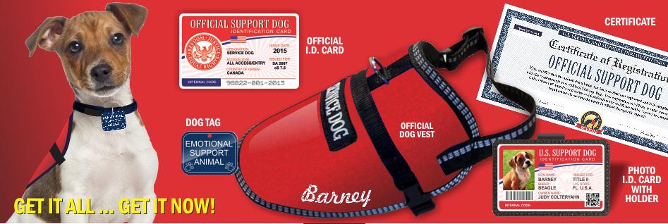 Official Emotional Support Dog Vest : Service Dog Vest And ID Card Kits