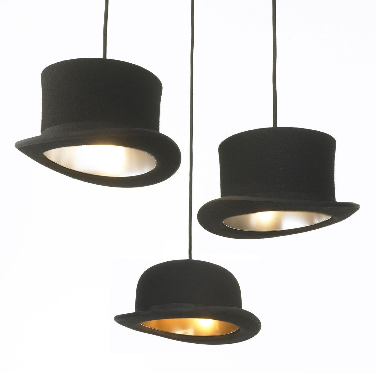 top hat lights. could be fun for a little boy's room.