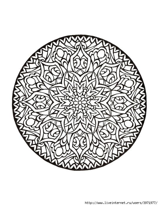 Don\'t Eat the Paste: Lotus Mandala Coloring Page or Embroidery ...