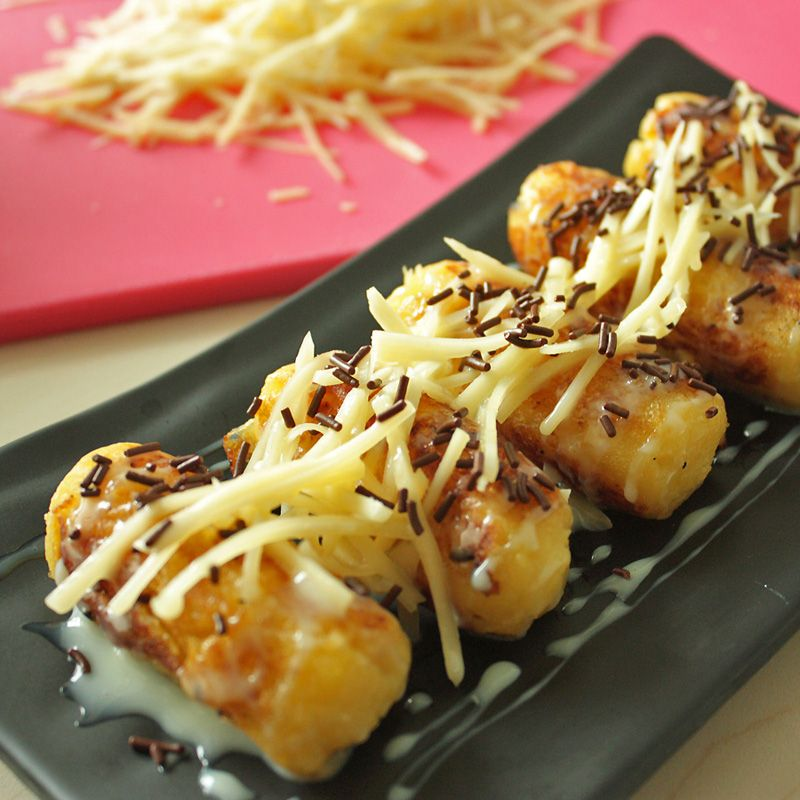 Tape Bakar Cassava With Cheese And Chocolate Cuisine Recipes Asian Snacks Asian Desserts