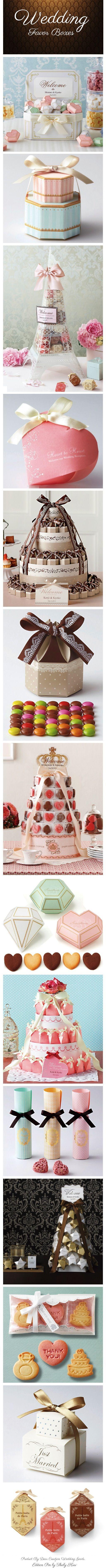So cute...Wedding Favor Boxes. By Dear Creation Japon. #Packaging #wedding