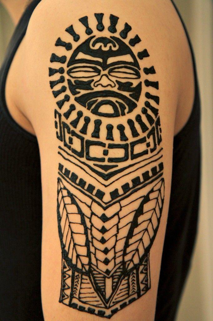 Polynesian Henna Tattoo Design Alliebee Henna Blog Henna Tattoo Designs Tattoos Men Henna Tattoo
