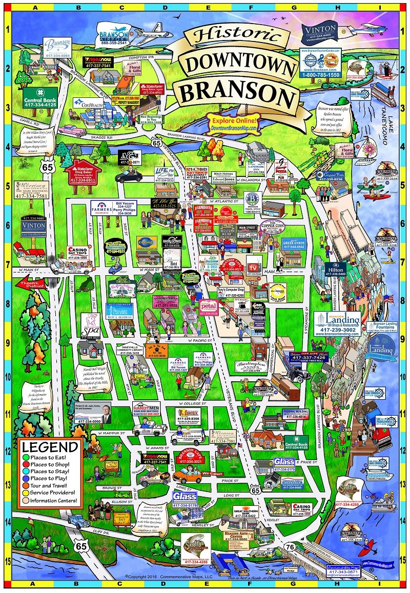 Map Of Branson Missouri Downtown Branson Map | Отпуск in 2019 | Branson vacation, Branson
