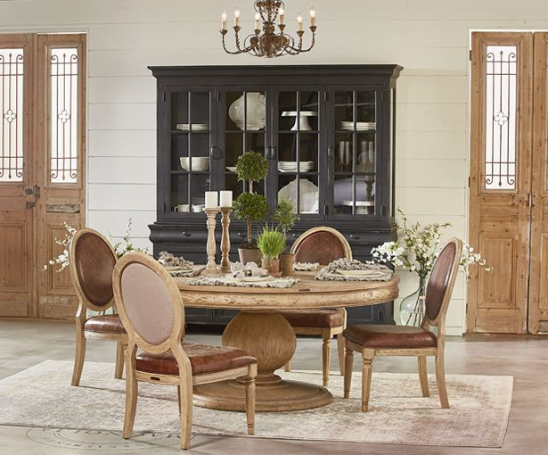 Magnolia Home Preview French Inspired Collection Round Dining Room Table Fixer Upper Dining Room Dining Furniture Makeover