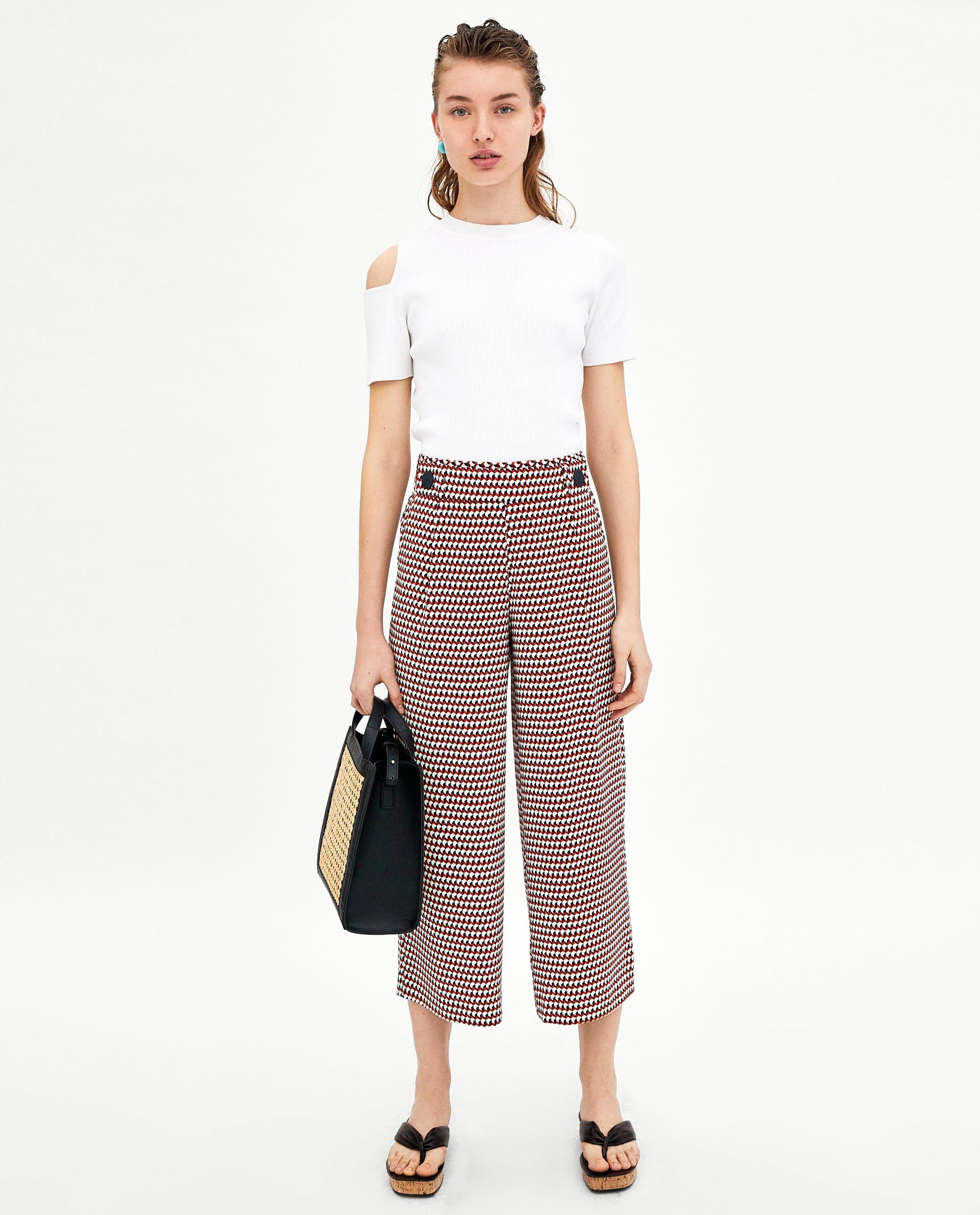 1766337c3b5 PANTALÓN FLUIDO TOBILLERO | ZARA | Zara outfit, Cropped pants ...