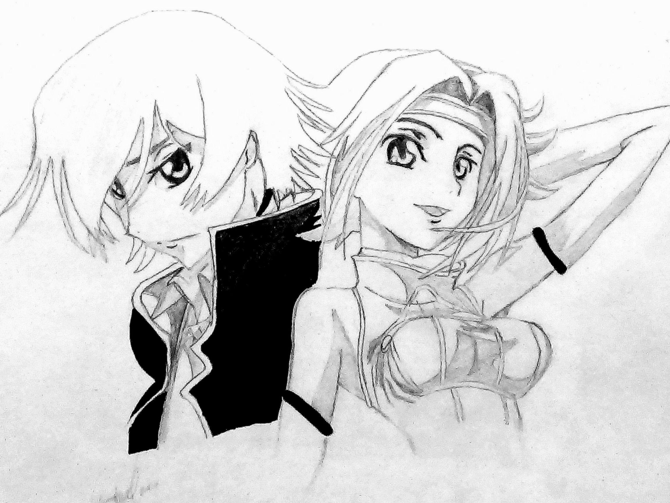 Dibujo a lapiz.de anime. .saludos