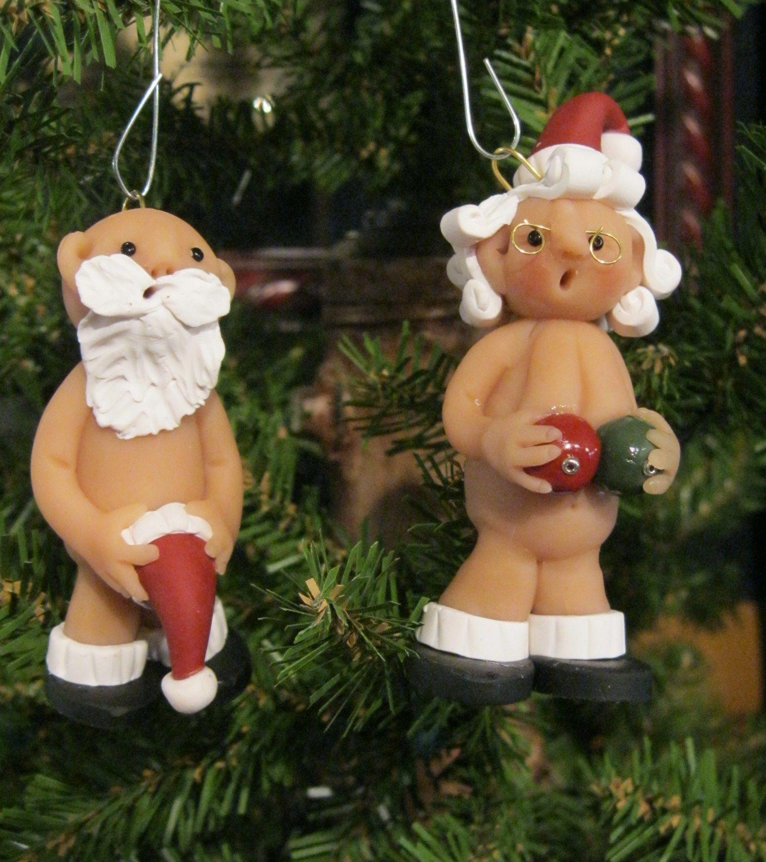 Mr and mrs christmas tree decoration - Ornament Mr Mrs Naughty Santa