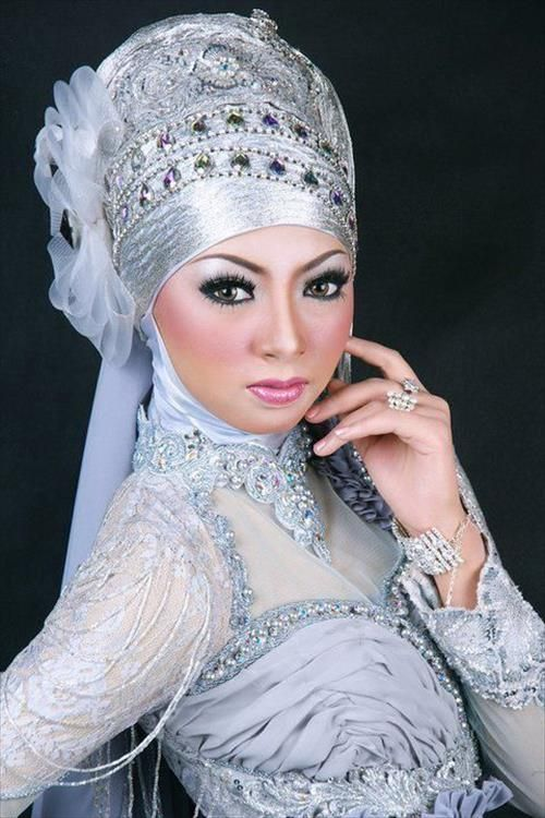 Muslim wedding hijab dress ideas | HIJAB Fashion | Pinterest