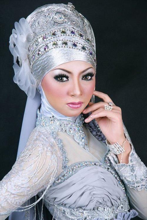 Muslim wedding hijab dress ideas | hijabs | Pinterest