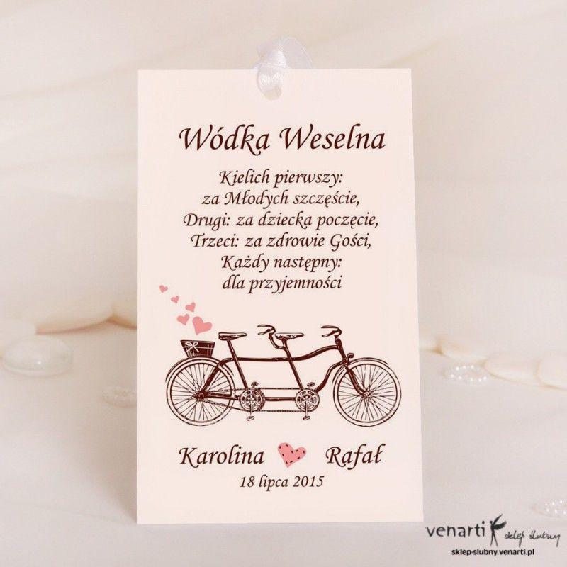 Zawieszki Na Wodke Stary Rower Wedding Gifts For Guests Wedding Vodka Wedding