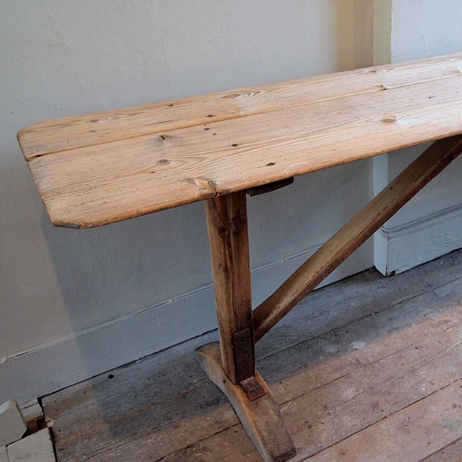 Long And Narrow Trestle Table U203a Puckhaber Decorative Antiques U203a Specialists  In French Decorative Antiques For