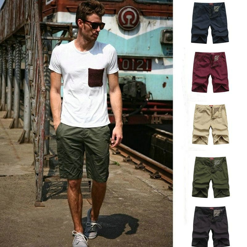2015-New-Summer-Style-Urban-Casual-Fashion-Men-s-Knee-Length-Cargo ...