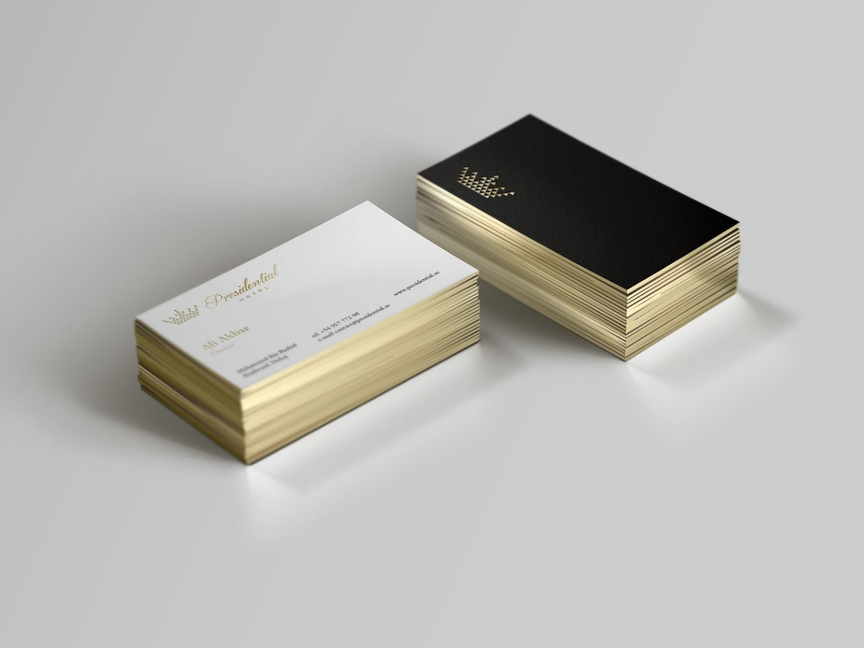 name cards presidential hotel on behance