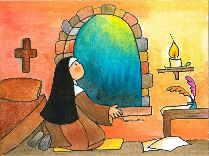 Teresa 2 Painting Saint Teresa Artwork