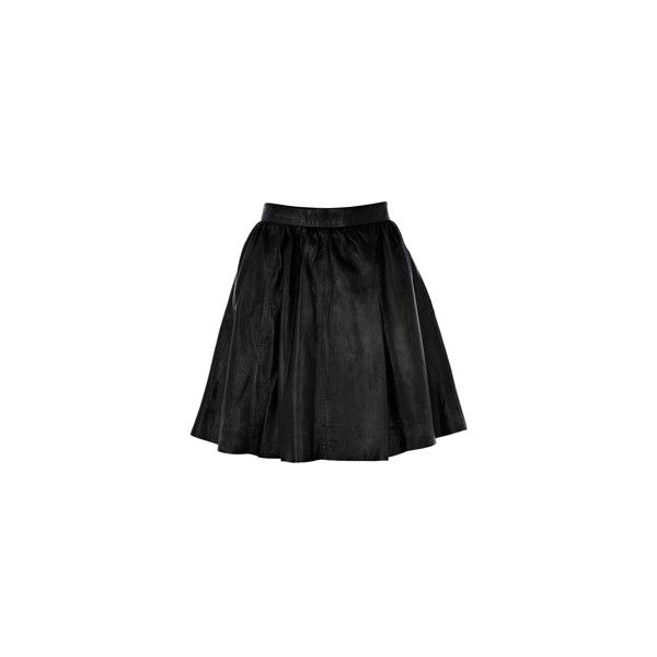 Warehouse Leather Full Skirt ($55) ❤ liked on Polyvore