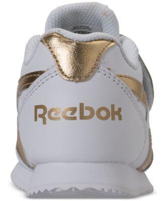 b8e260ffdda Reebok Toddler Girls  Royal Classic Jogger 2 Casual Sneakers from Finish  Line - WHITE GOLD METALLIC 10