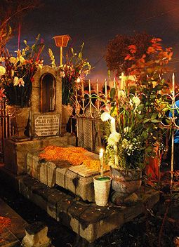 Day Of The Dead Traditions Of Decorating Gravestones Day Of The