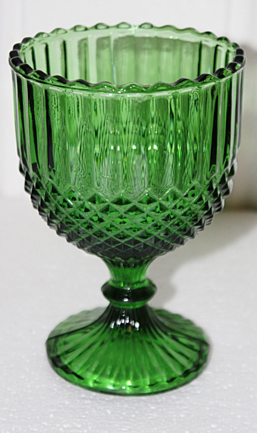 Vintage Green Compote