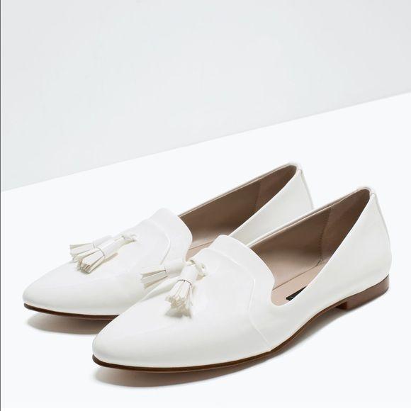 Zara white flats | Flat shoes women