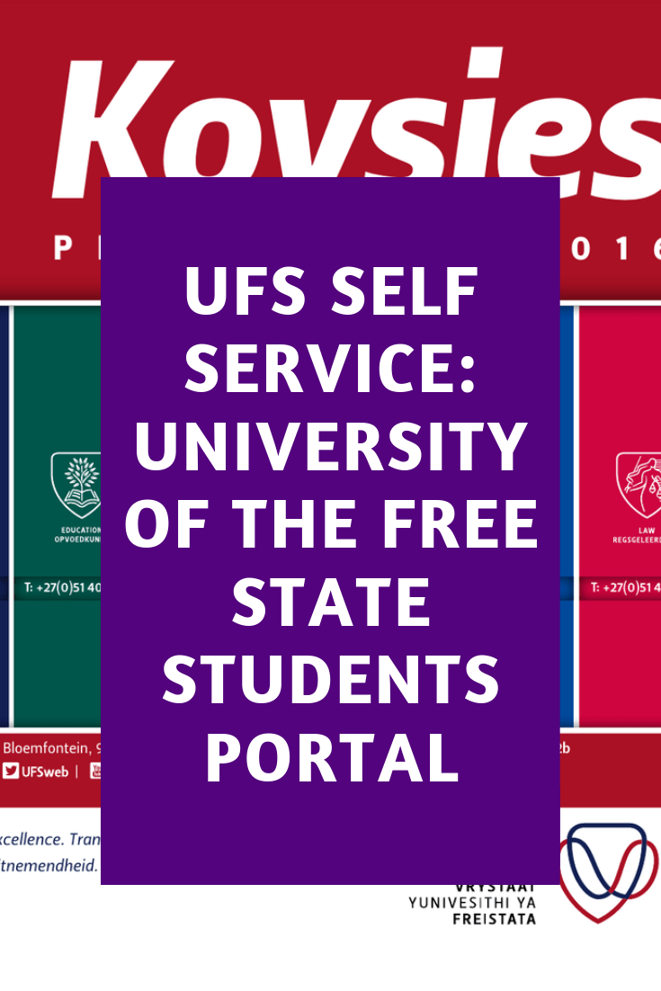 Ufs Self Service University Of The Free State Student Portal
