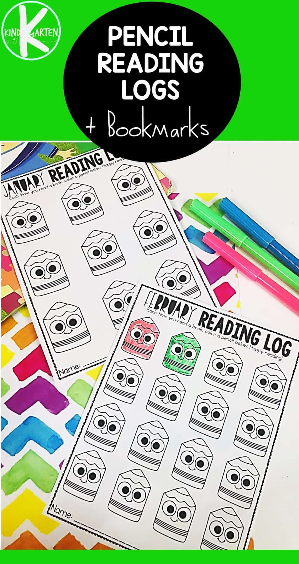 Free Pencil Reading Log Printable