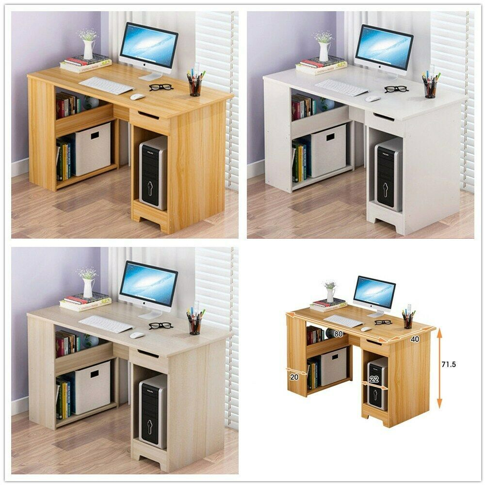 Table Dordinateur Bureau Informatique Laptop Travail Etageres 1