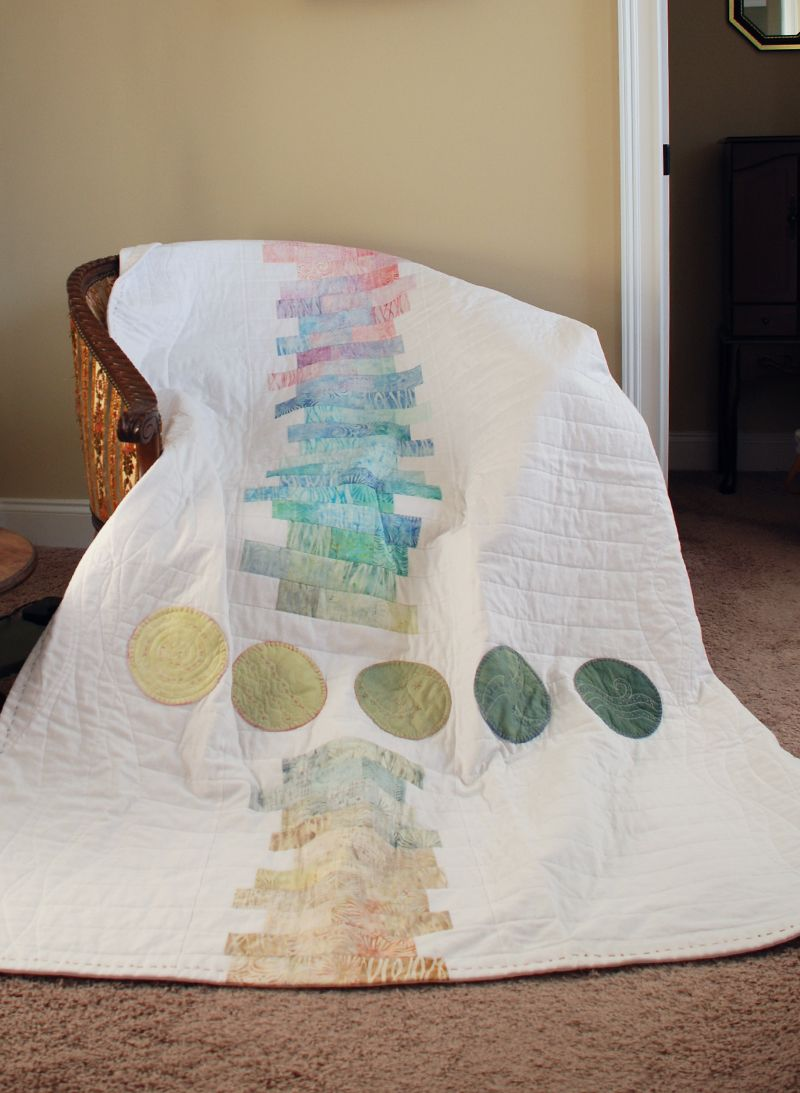 Softly Spoken quilt by Nadine Ruggles