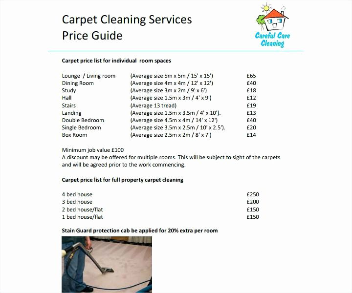 House Cleaning Price List Best Of Average Cost Carpet