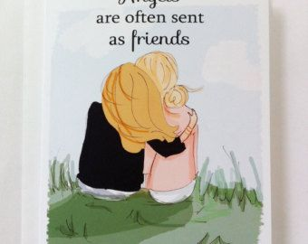 Good Friends Are Like Stars.....Miss You Card - Friendship Card - Bon Voyage Card - Miss You Card - Card for Best Friends
