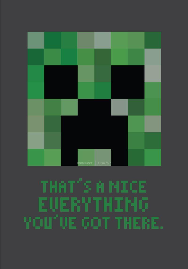 Minecraft Creeper Valentine S Day Card Misc Geeky Pinterest