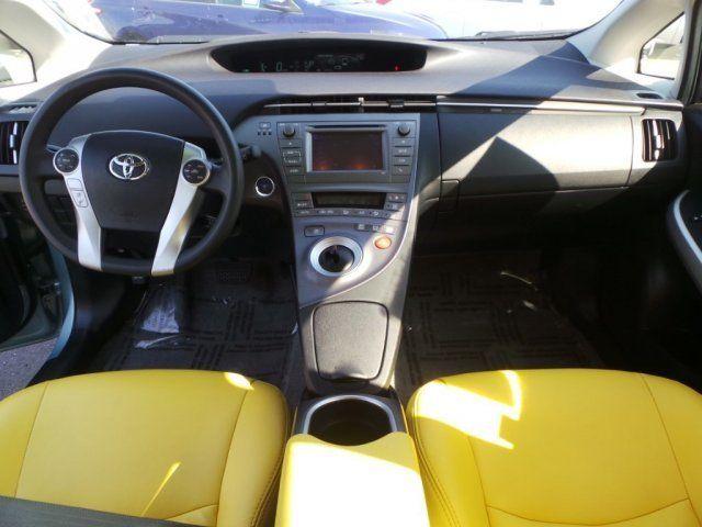 2015 Toyota Prius Two Hybrid Yellow And Black Interior Auto