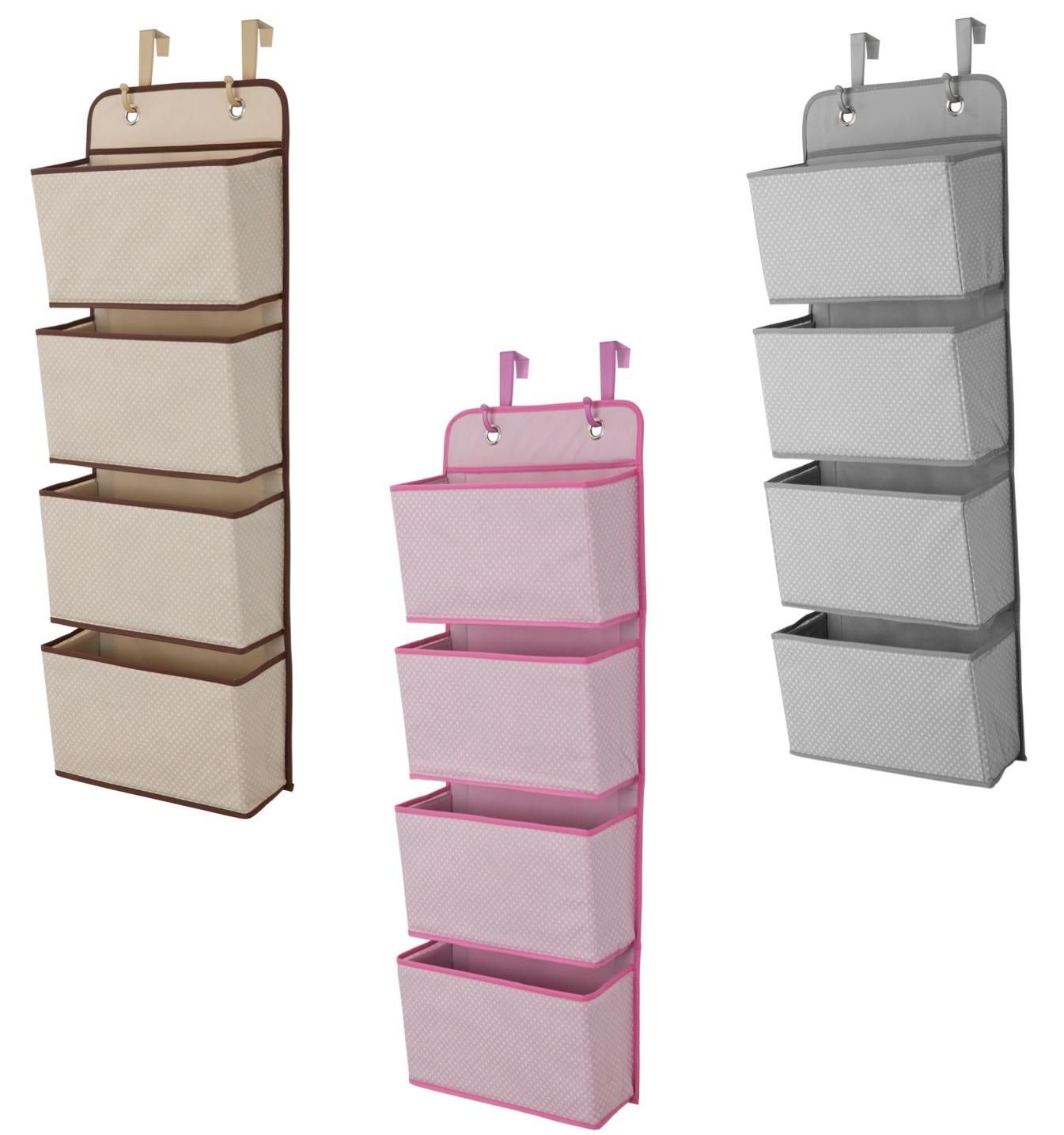 Elegant Nursery, Storage, Over, The, Door, Hanging, Organizer, Space, Saving, Pink,  Beige, Tan, Grey, Gray
