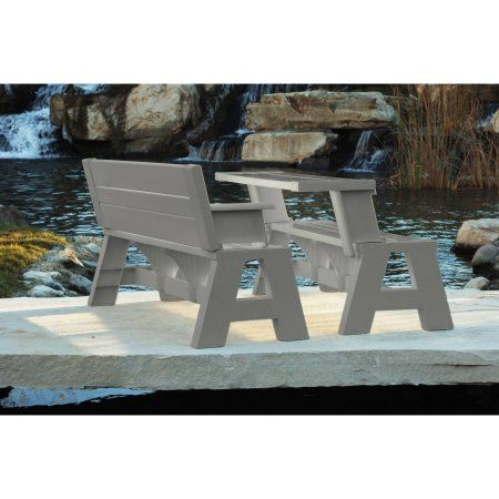 Patio Garden With Images Convert A Bench Picnic Table Outdoor Bench