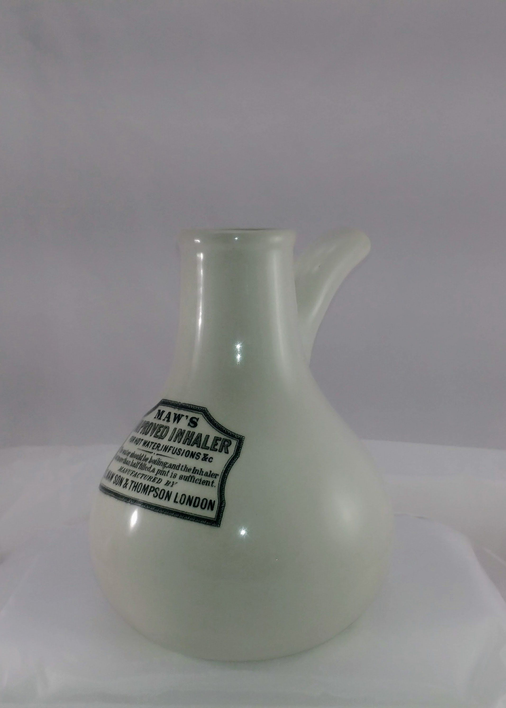 Vintage Apothecary English Ironstone Maw S Improved Inhaler