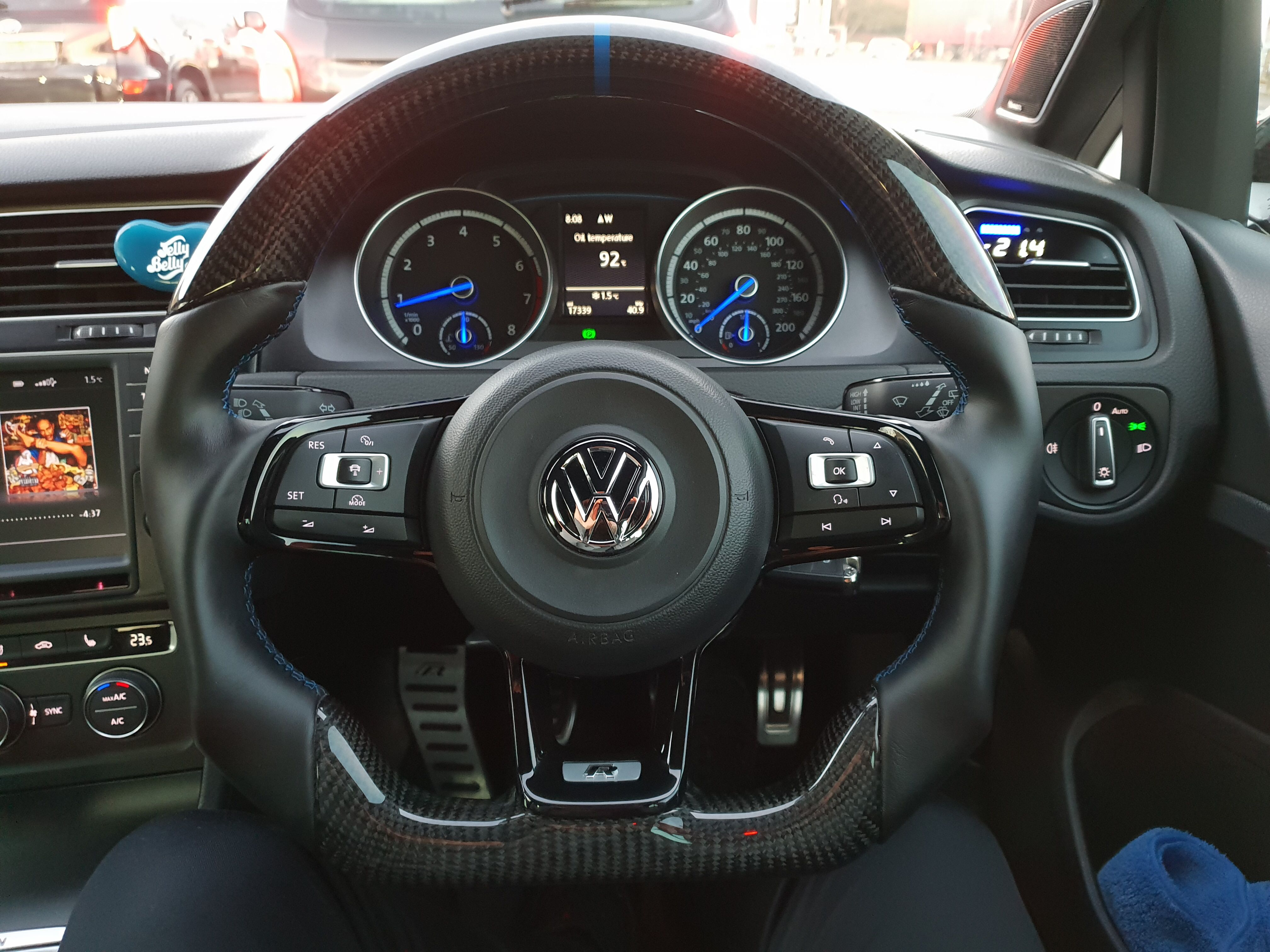 Vw Golf R Custom Steering Wheel Steering Wheel Steering Wheel Cover Wheel