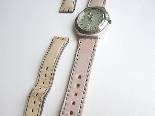 94a2409a7 Šedý kožený remienok na hodinky SWATCH / leon | Veci na oblečenie ...