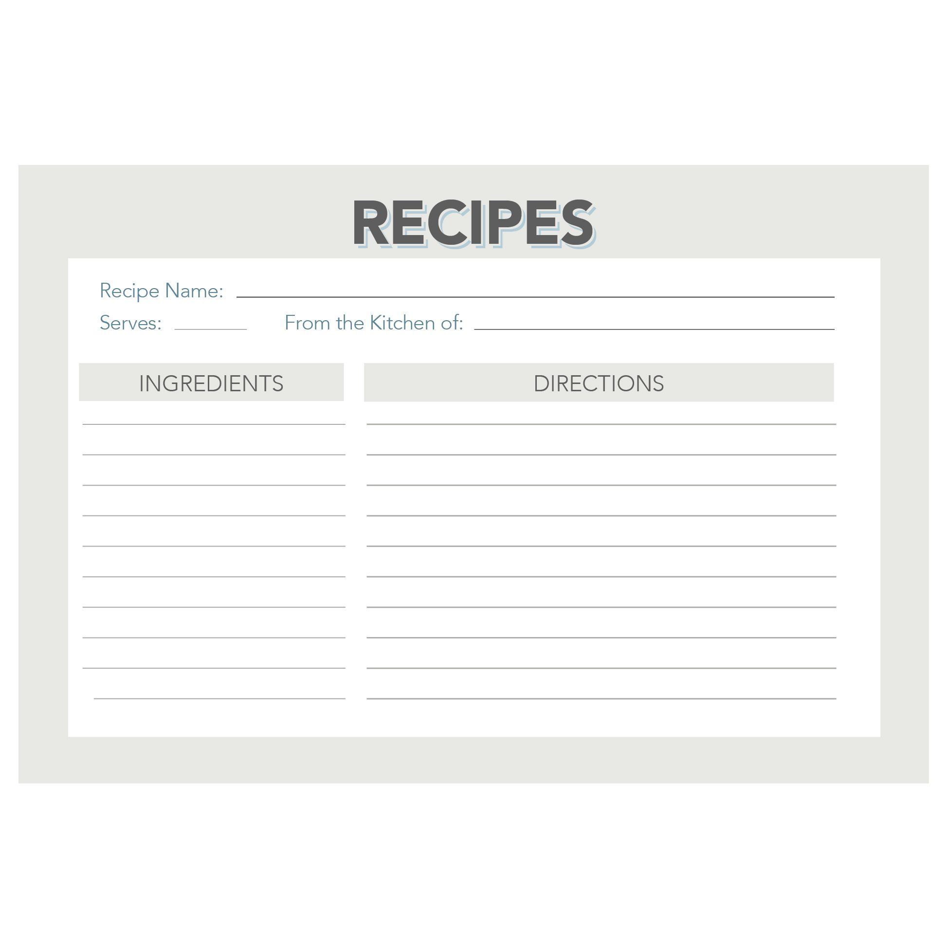 Amazon.com: Retro and Vintage Recipe Card Set from Dashleigh, 48 Cards, 4x6 inches, Water-Resistant and High Quality: Kitchen & Dining