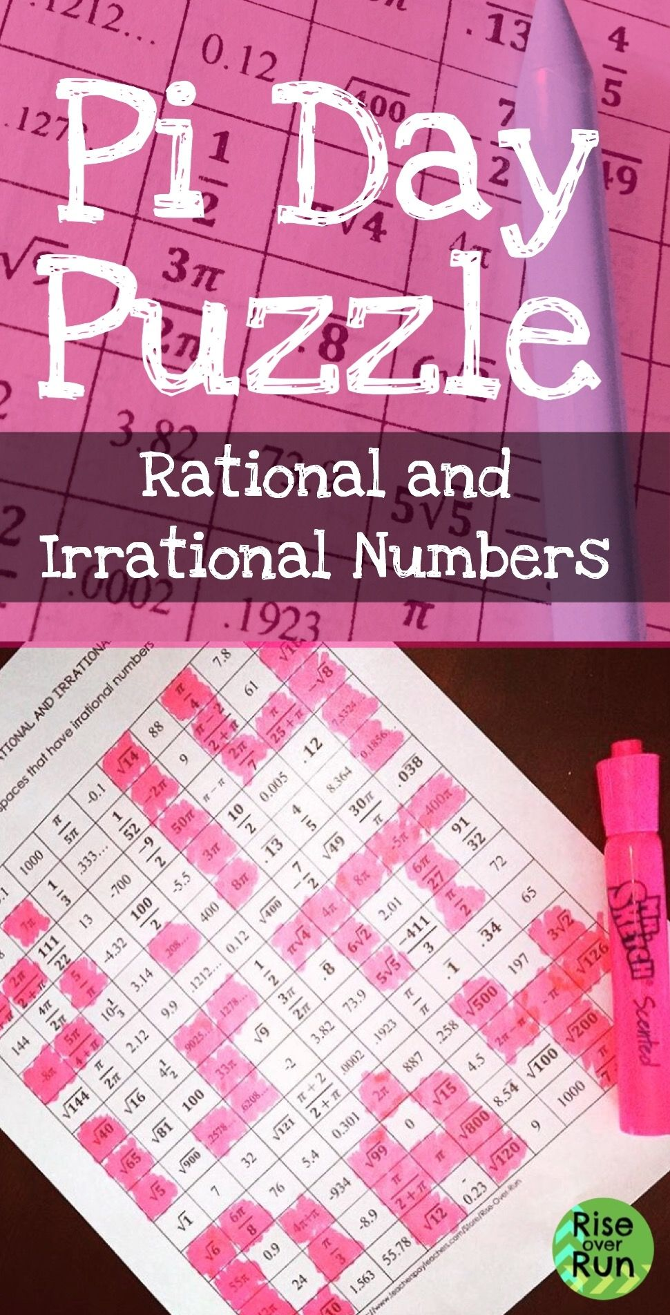 Fresh Ideas - Pi Day Acitivity Rational and Irrational Numbers