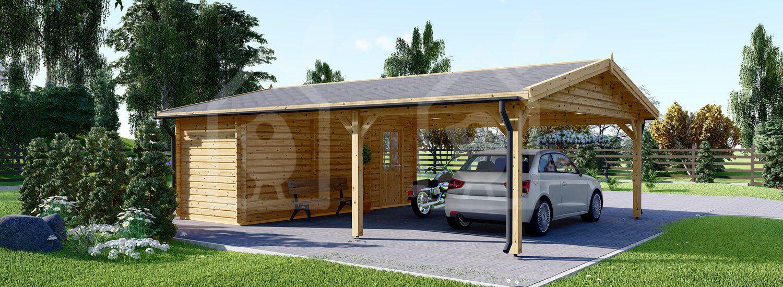 Una tettoia in legno è una costruzione aperta progettata