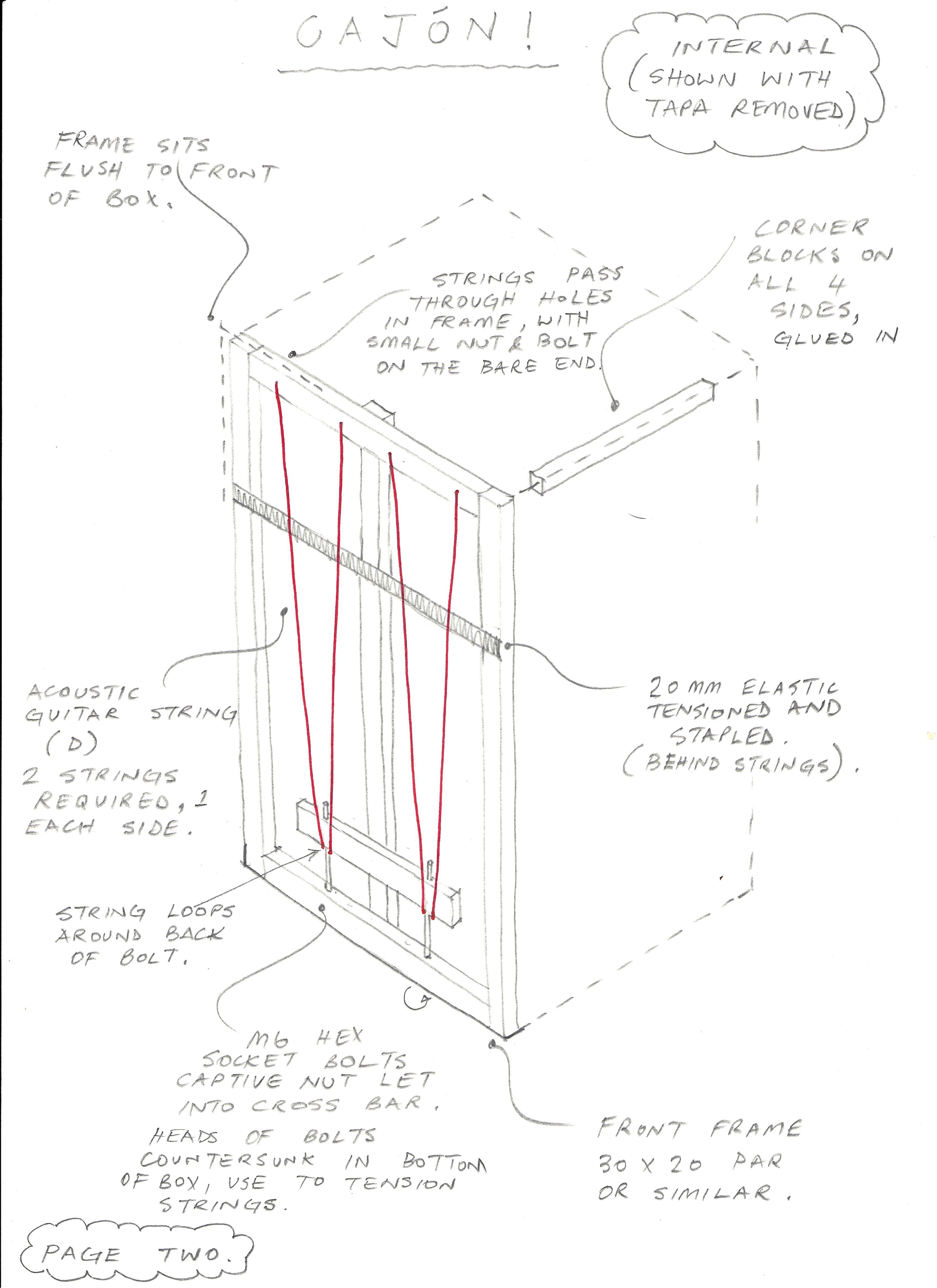 Cajon Drawing 2 Edit Jpg 3 399 4 675 Pixels Diy Musical Instruments How To Make Cajon Drum