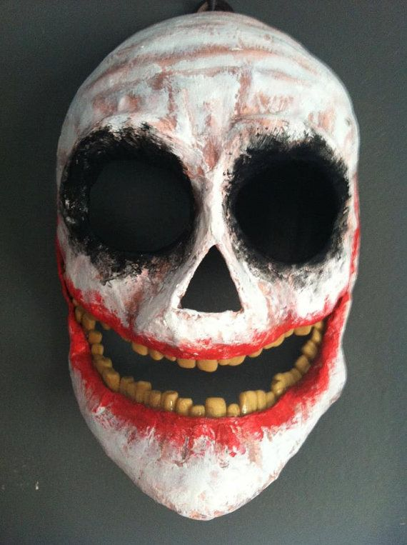 The Joker Original Paper Mache Skull Mask In