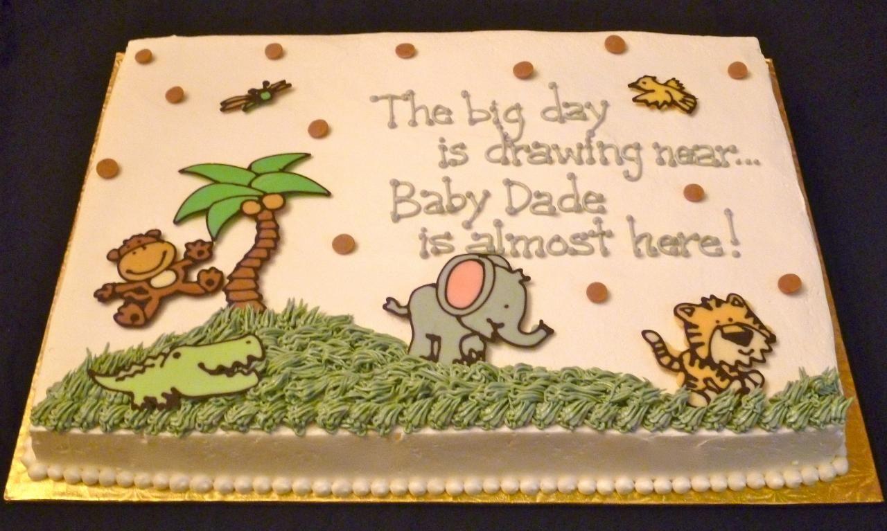 Baby Boy Shower · Jungle Sheet Cakes ...