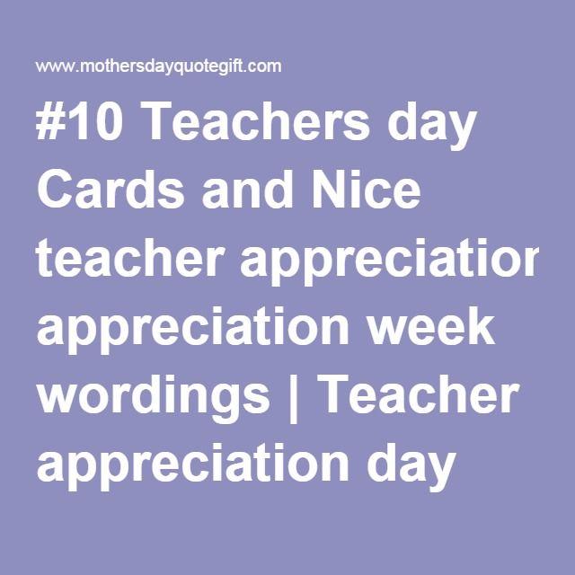 #10 Teachers Day Cards And Nice Teacher Appreciation Week
