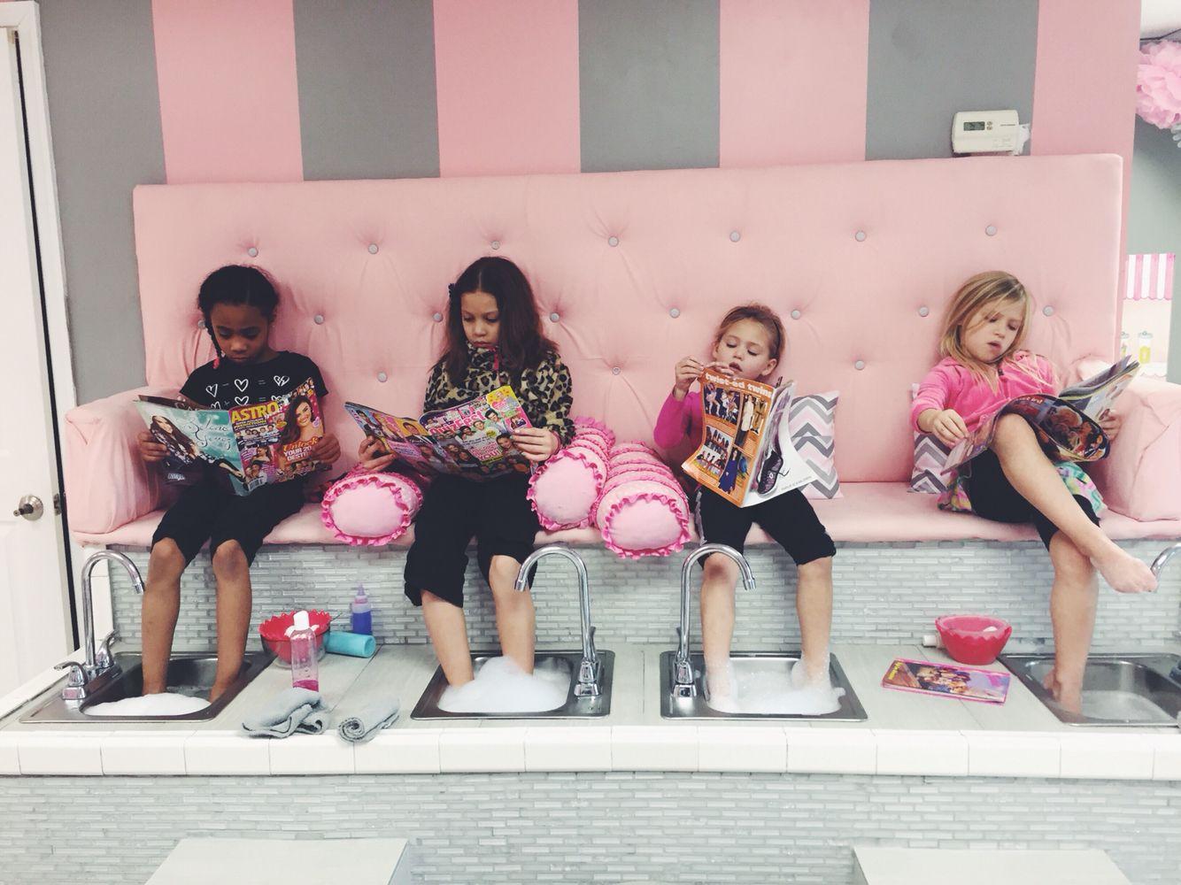 Kids Spa Pedicure Bench  Sassy Princess Spa for Girls  D r e a m s in 2019  Nail salon decor